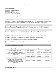 Wimax Engineer Sample Resume Adorable Srinivas Resume 44