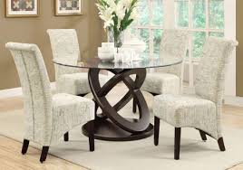 dining table 48 dia espresso with tempered glass br b dining chair b p p 2pcs 40 h vintage french fabric