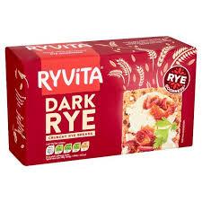 Ryvita Dark Rye Crisp Bread Biscuits Crackers