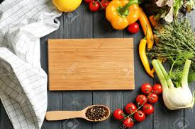 Wooden Board And Vegetables On Kitchen Table Cooking Classes