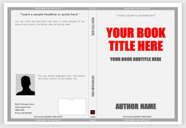 book cover template microsoft word