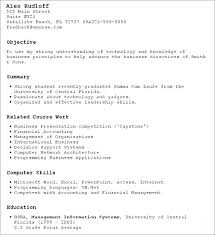 My first resume for students