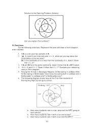 Venn Diagram Math Worksheets Probability Venn Diagram Worksheet Espace Verandas Com