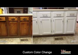 how to change cabinet color. Brilliant Change Solid Oak Cabinet Refinishing White In How To Change Color O