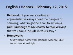 english i honors ppt video online english i honors 12 2015