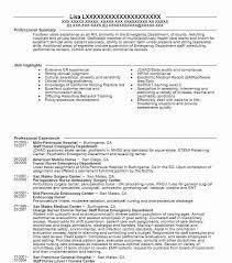 Emergency Department Level 1 Trauma Nurse Resume Example