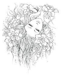 Goth Fairy Coloring Pages For Adults Fairies Coloring Pages Fairy