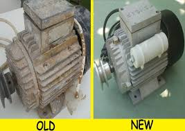 picture of rewinding and renovation of the electric motor