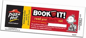 Image result for clip art pizza hut book it certificate