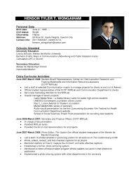 Resume Sample Format Ideas Of Curriculum Vitae Sample Pdf
