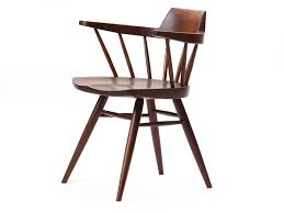 brown oval modern wooden captains chair ideas