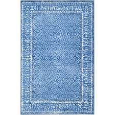 safavieh adirondack 8 x 8 square rug in light blue and dark blue