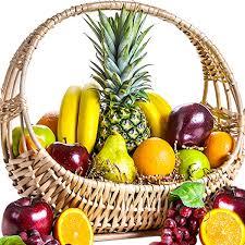 fruit basket. Delighful Fruit Tropical Fruit Basket On T