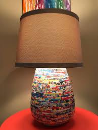 Creative Lamp Magazine Lamp Accent Lamp Statement Lamp Etsy