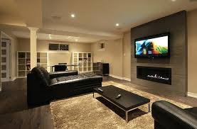 Rustic Modern Basement Ideas Finished Basements Home Decorating Interesting Basement Idea