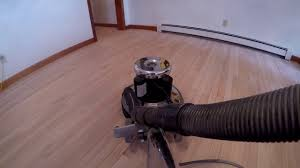 removing aluminum oxide finish with 80 grit with the hummel falcon flooring