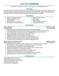 Fitness Trainer Job Description Resume
