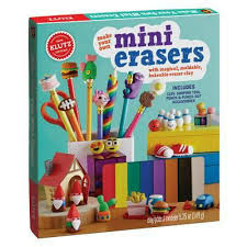 Make Own Merchandise Make Your Own Mini Erasers By Editors Of Klutz Book Merchandise
