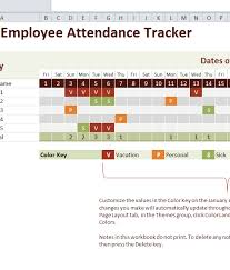 Attendance Tracker Free Download The Free 2016 Employee Attendance Tracker Template Use