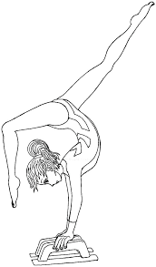 gymnastics coloring pages sports beam