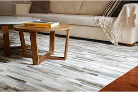 patchwork cowhide rug encourage stripes of gray beige and white 8x8ft shine regarding 15