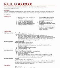 Management Resume Stunning 40 Construction Management Resume Examples Manufacturing And