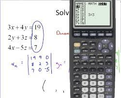 algebra cramer s rule for 3 x 3 with calculator