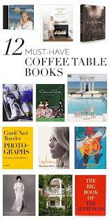 12 must have coffee table books