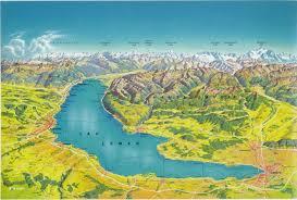 Genfer see ist ein tolles reiseziel und in diesem individuellen ferienhaus mit pool finden sie alles ein freundliches ferienhaus mit pool für ihren urlaub am genfer see: Panoramic Map Lake Map Lake Geneva