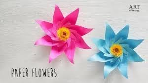 Paper Flower Making Video Video How To Make Paper Flowers Clip How To Make Paper Flowers