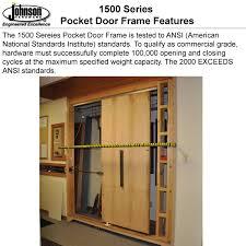 1500 series pocket door frames