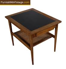 mid century modern end table by