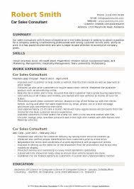 Car Sales Consultant Resume Samples Qwikresume