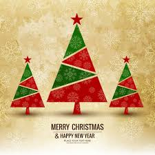 Background With 3 Christmas Trees Vector Free Download