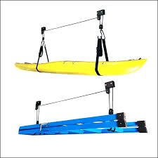kayak rack garage diy storage pulley ceiling ideas sto