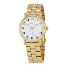 marc jacobs watches jomashop marc by marc jacobs baker white dial watch