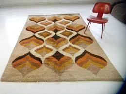 mid century rug danish mod loft orange rugs uk mid century rug