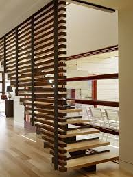 Architecture, Wooden Staircase With Wood Wall Cladding Railings Residence Design  Ideas: Enchanting Peaks View Residence by Carney Logan Burke Architects