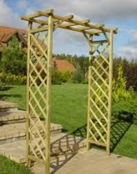 diamond fsc timber trellis arch