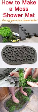 How to Make a Moss Shower Mat | need to make this for the back door