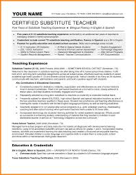 10 Resume For Substitute Teachers Offecial Letter