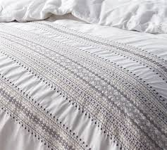 kelliher stitch embroidered bedding