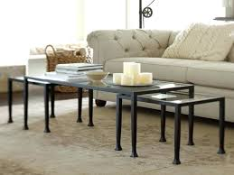 coffee table famous pottery barn tanner nice design image of hairpin round knock off h