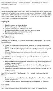 Accounts Payable Resume Impressive Accounts Payable Supervisor Resume Template Ashitennet