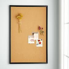 U-Brands Natural Cork Bulletin Boards with Black Frames ...
