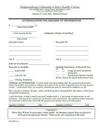 Medical Release Of Information Form - Hasnydes.us
