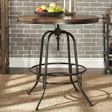 industrial counter height table. 36 Height Table Iron Industrial Round Inch Adjustable Counter By Inspire A