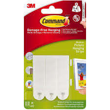 command medium white damage free picture hanging strips 4 pack image 1