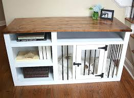 wood dog crates furniture wooden dog crate table indoor furniture custom kennels white wood australia