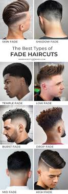 Barber Hairstyles Chart Types Of Fade Haircuts 2019 Update